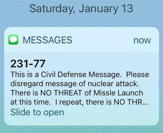 'This Is Not a Drill': Those 38 Minutes of Nuclear False Alarm