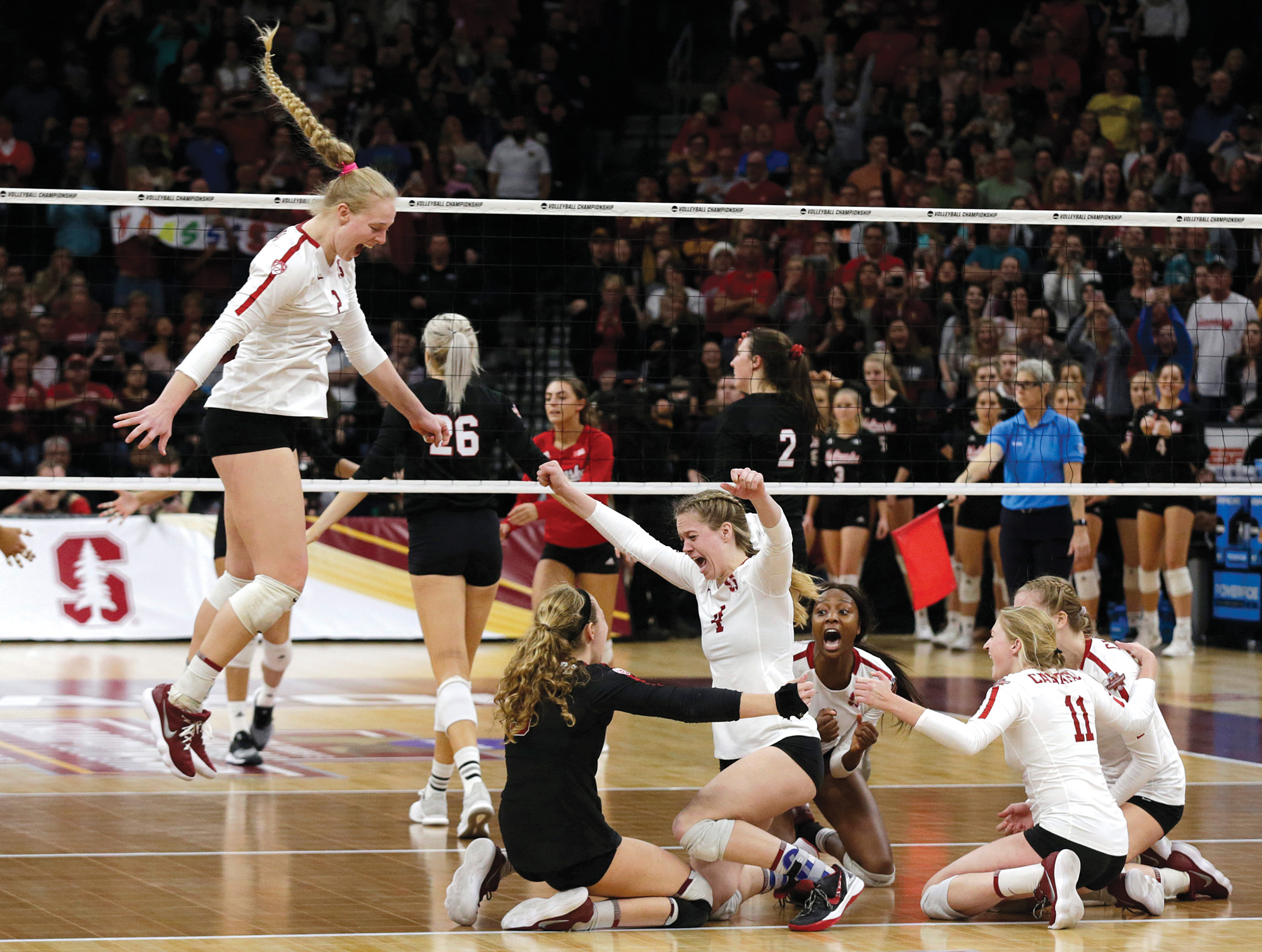 Eight Is Great for Women's Volleyball