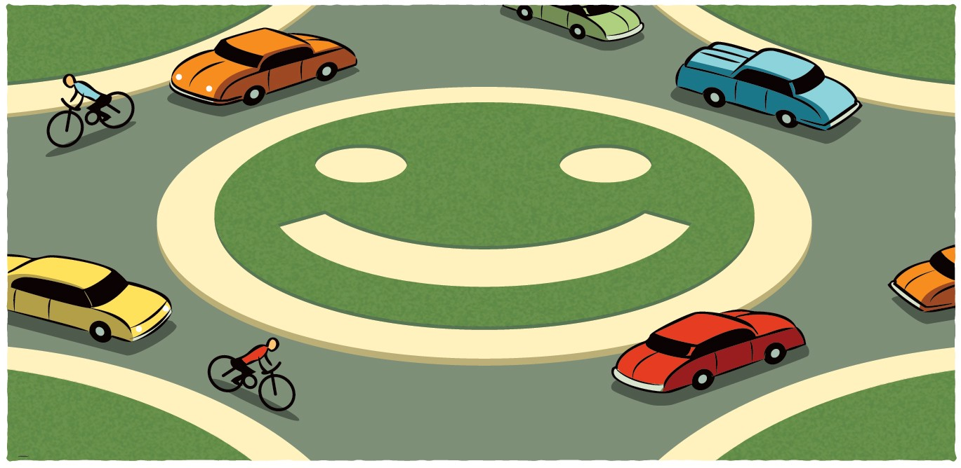 Campus Traffic Goes in Circles, In a Good Way