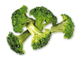 Some florets of broccoli.