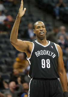 A photo of Jason Collins in a basketball jersey.