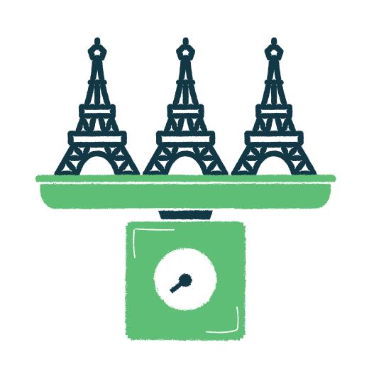 Eiffel Towers Illustration