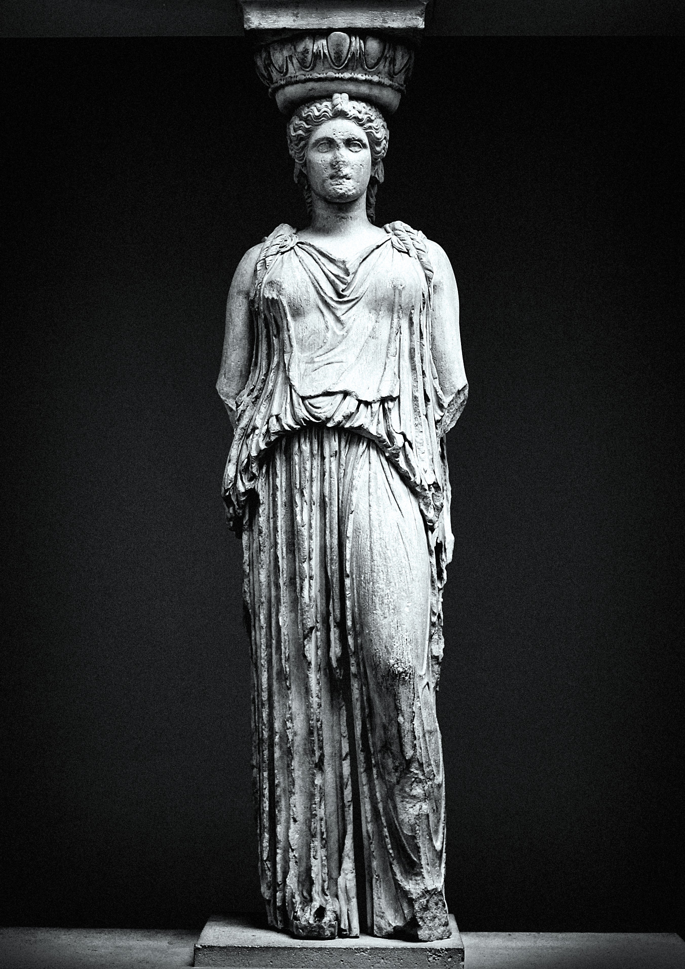 Photo of one of the six caryatids.