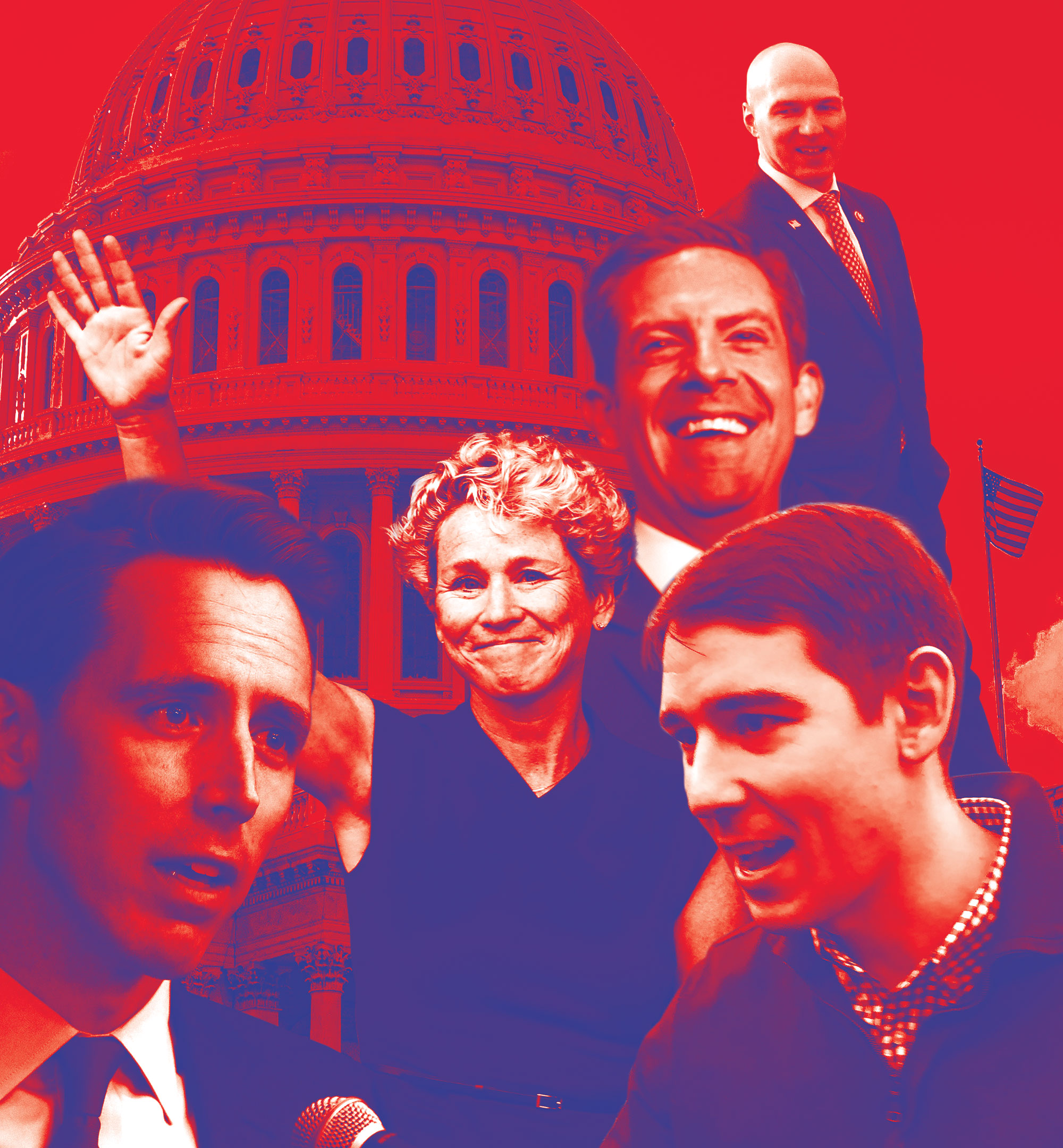 Composite Photo of Mike Levin, Chrissy Houlahan, Josh Hawley, Josh Harder, Anthony Gonzalez