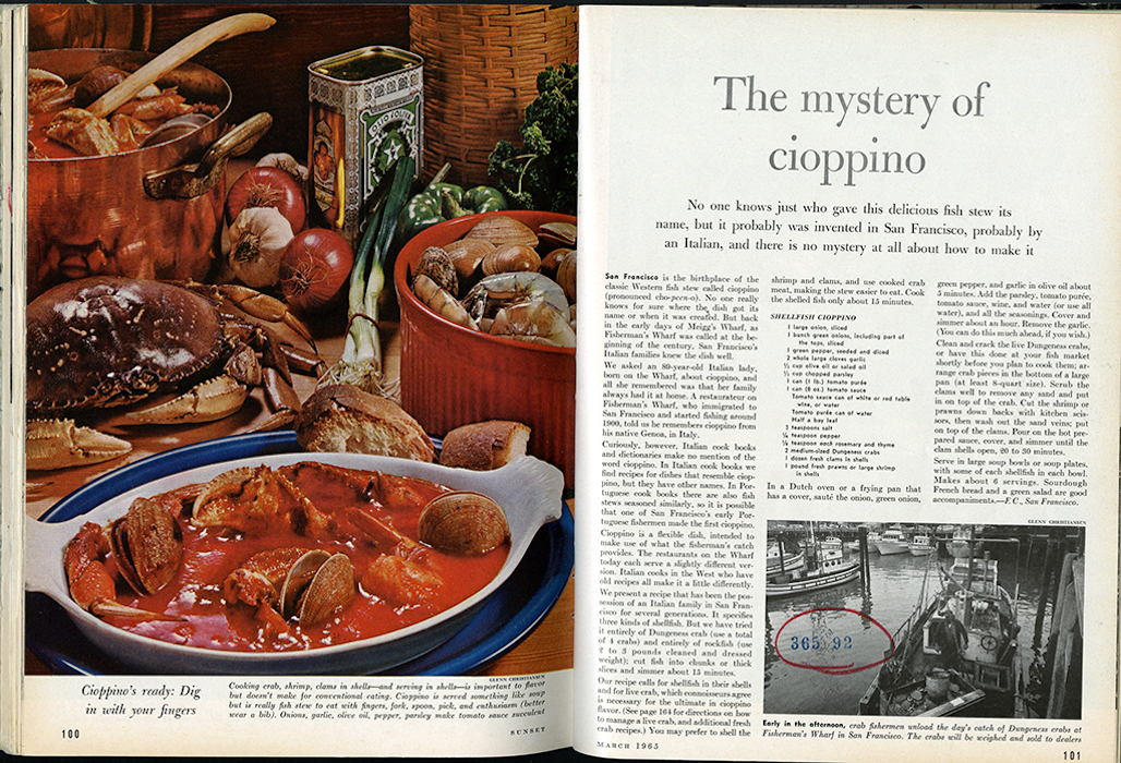 """The Mystery of Cioppino"" from March 1965."