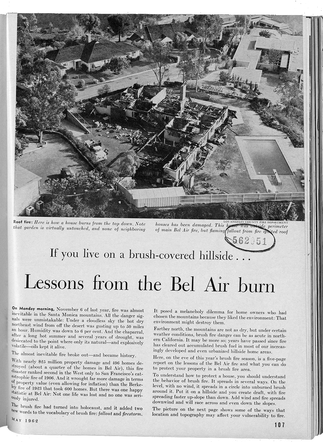 "Photo of ""Lessons from the Bel Air burn"" article."