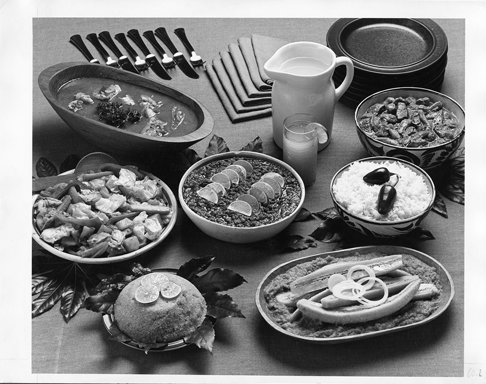 Photo from African meal story, March 1982.