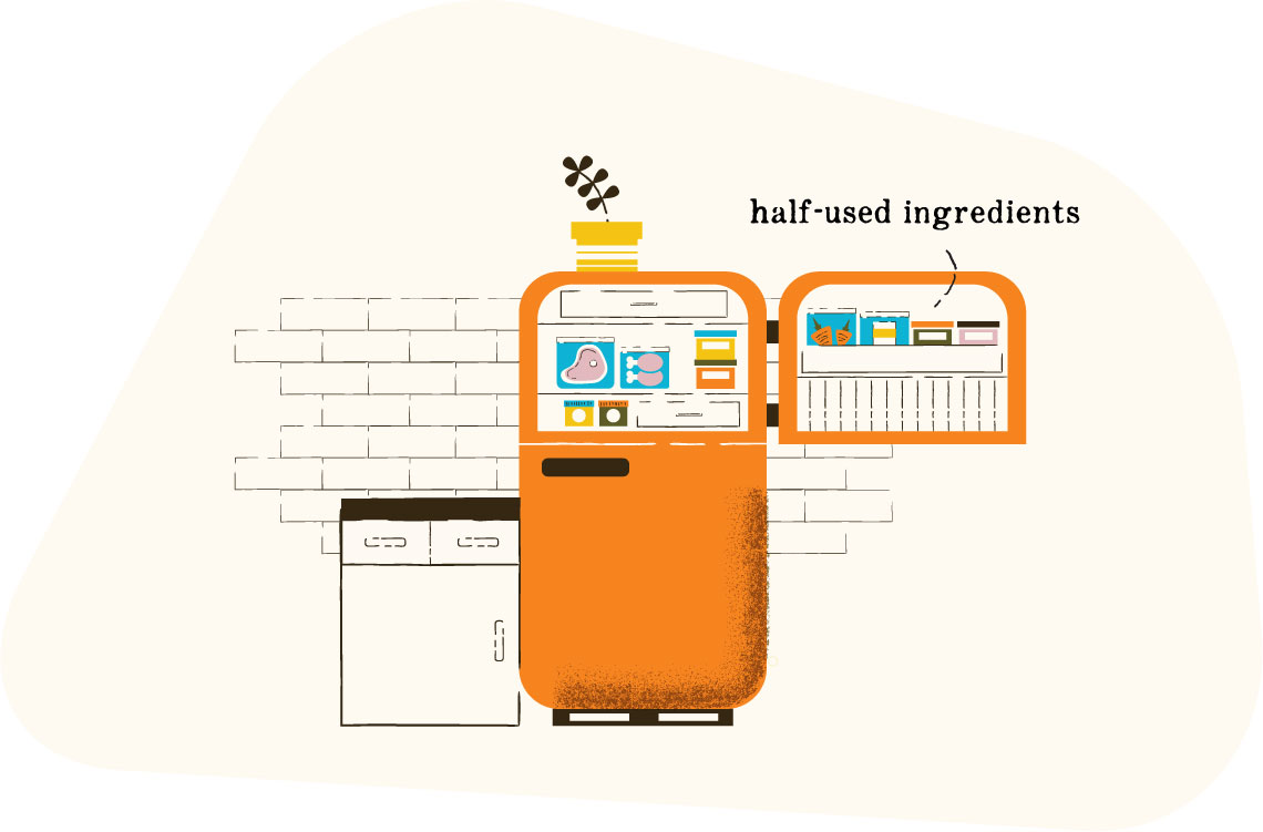 Illustration of refrigerator.