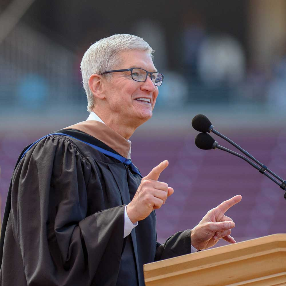 Photo of Tim Cook at podium.