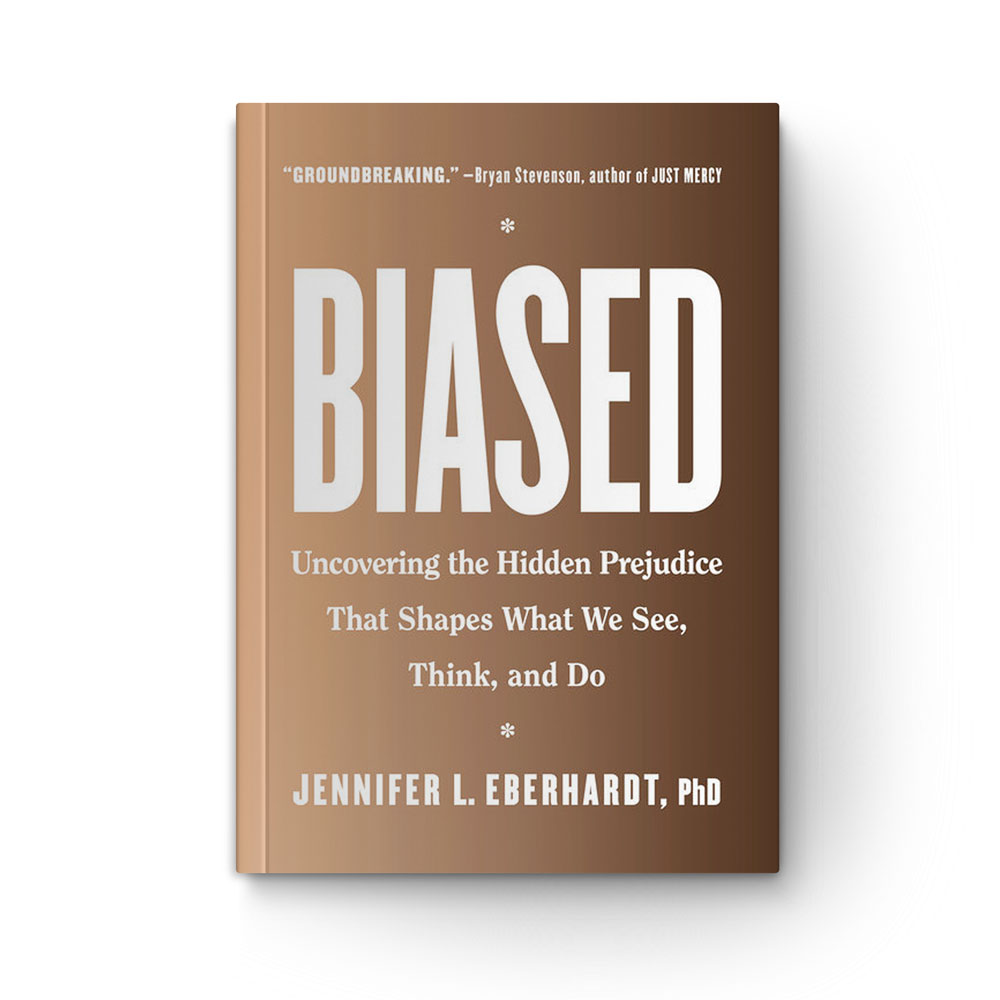 Book cover of Biased on white background.