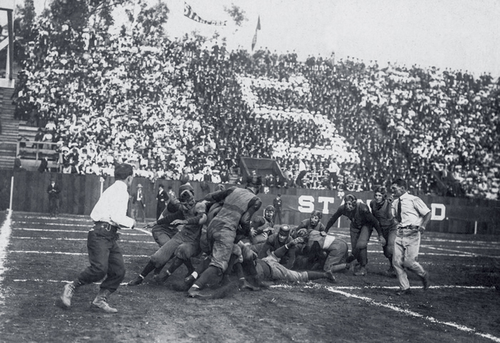 The 1905 Big Game at Stanford Field. (Photo: Stanford Historical Photograph Collection)