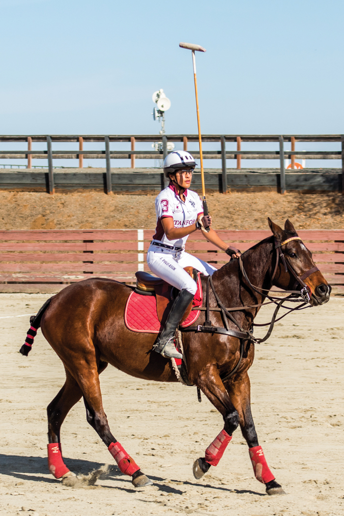 Aparna Verma playing polo