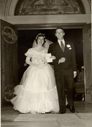 Joe Coulombe and his wife getting married.