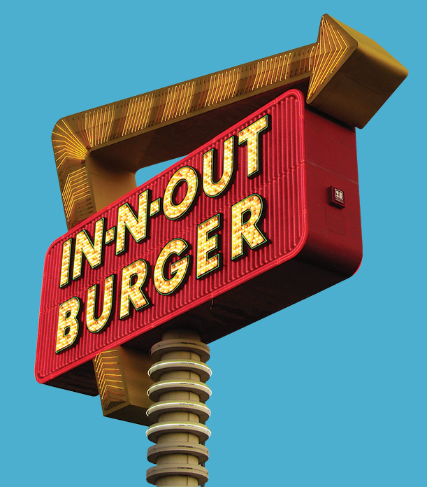 In-N-Out Burger outdoor signage.
