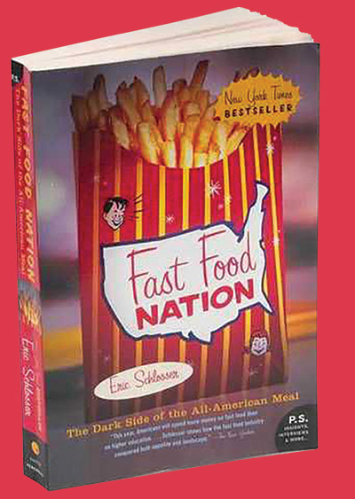 "Book cover of ""Fast Food Nation""."