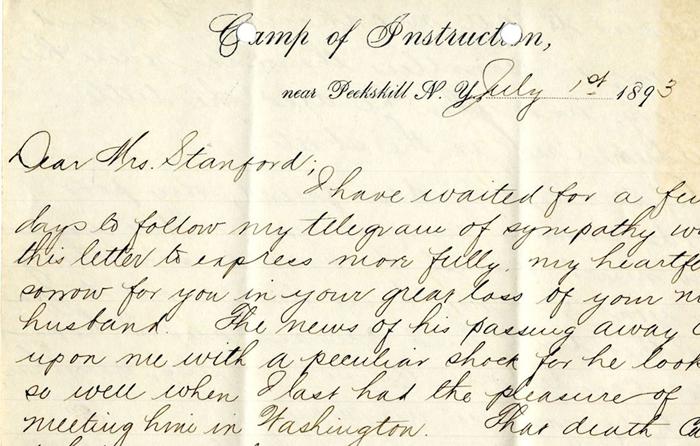 Handwritten Dear Jane letter