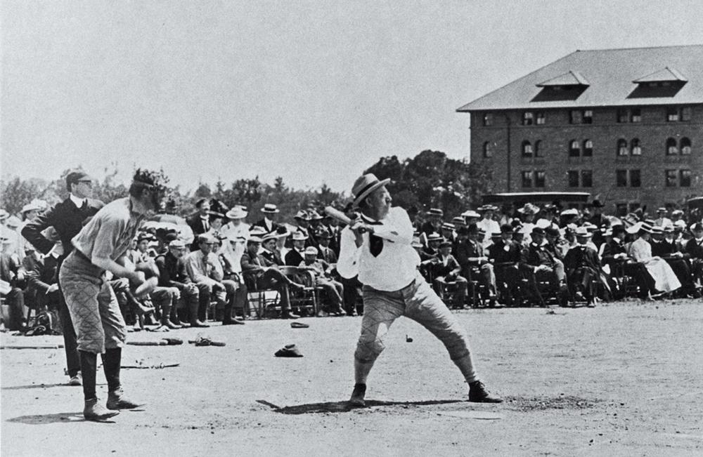 Jordan in the 1891 faculty-senior baseball game.