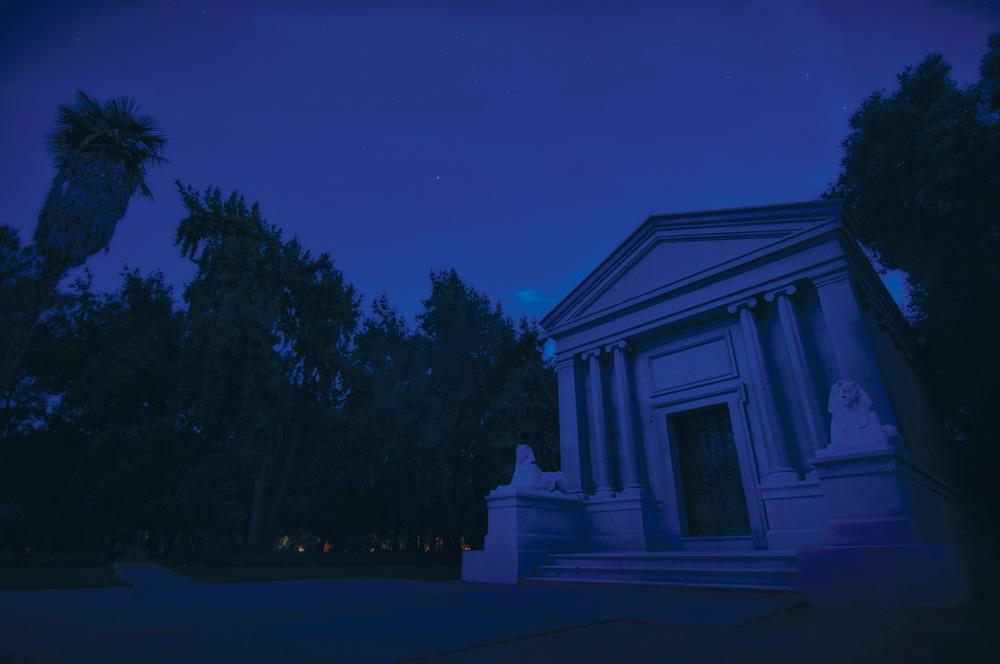 The Mausoleum at night