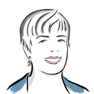 Illustration of Kathy Zonana.