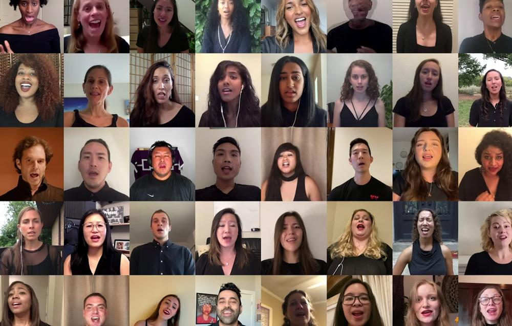 Multiple singers in a Zoom window