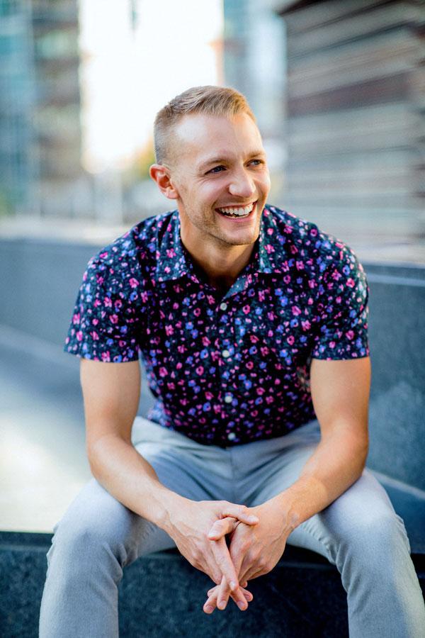 Portrait of Cameron Blevins.