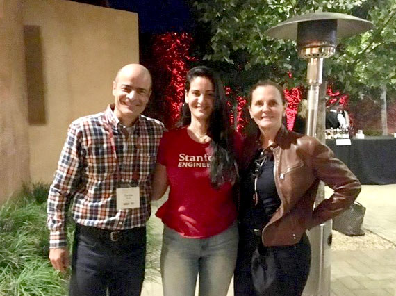 Carlos Brito, Luciana Frazao and her mother at a Stanford event.