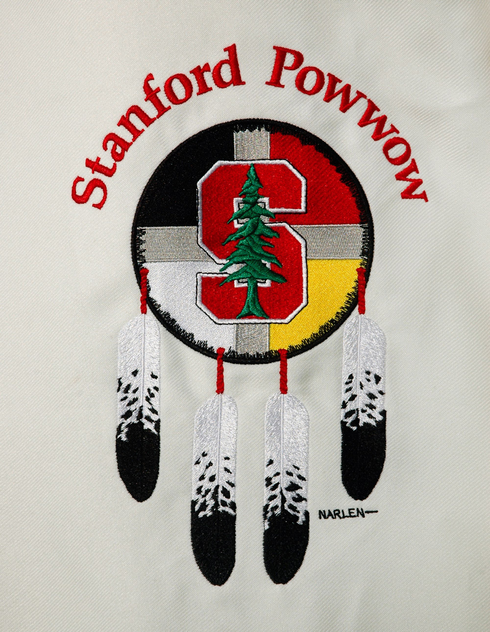 Embroidery of Stanford Powwow