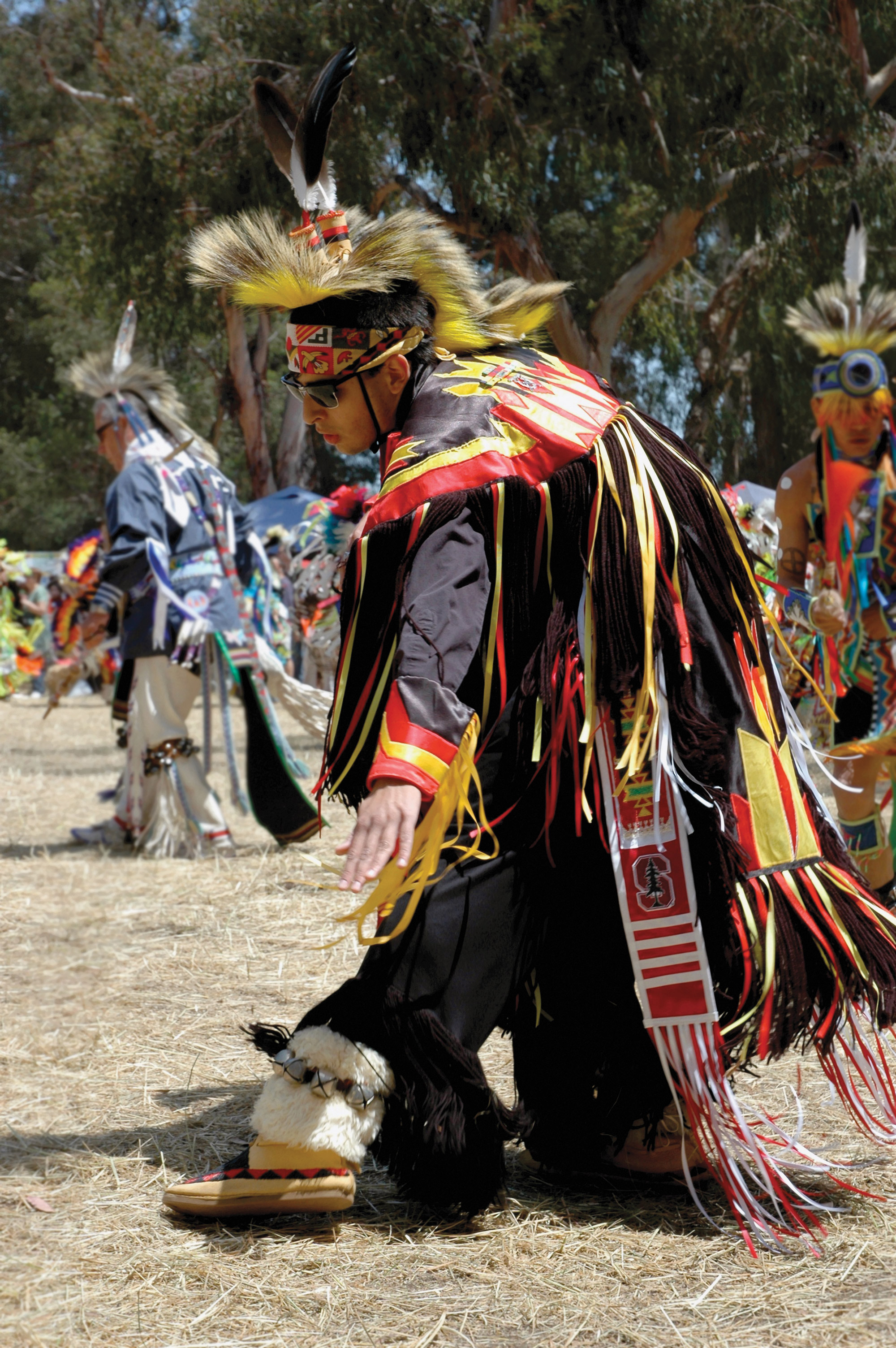 Chandler Hood performing the Grass Dance.