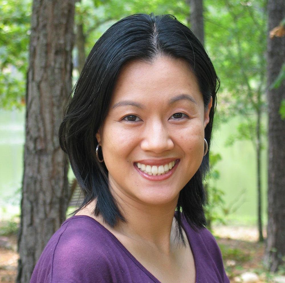Smiling portrait of Christine Lerios.