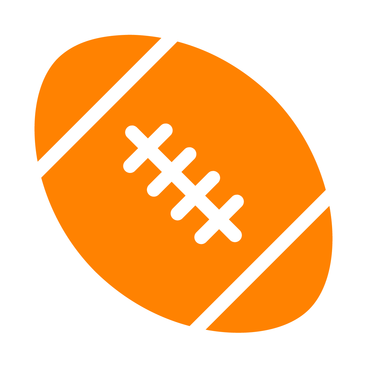 simple vector illustration of a football