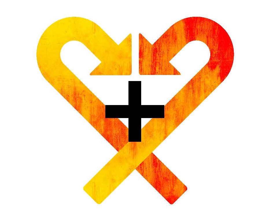 Illustration of arrows folded into a heart.